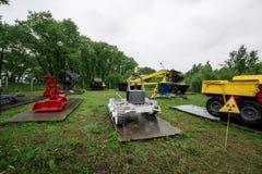 Exposition de technique utilisée dans la liquidation Chernobyl Images libres de droits