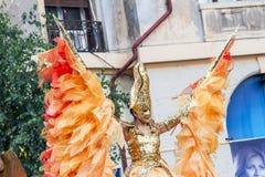 Exposition de théâtre d'or d'ange et de solénoïde à l'intérieur de B-FIT 2016 Photographie stock