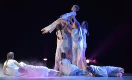 Exposition de théâtre de danse des enfants Photographie stock libre de droits