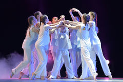 Exposition de théâtre de danse des enfants Images stock