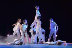 Exposition de théâtre de danse des enfants Photographie stock