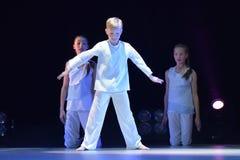 Exposition de théâtre de danse du ` s d'enfants Photographie stock libre de droits
