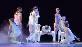 Exposition de théâtre de danse du ` s d'enfants Photos stock