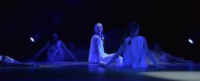 Exposition de théâtre de danse du ` s d'enfants Image libre de droits
