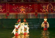 Exposition de théâtre de marionnettes à Hanoï, Vietnam Photo libre de droits