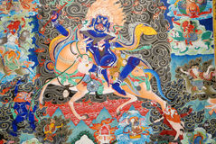 Exposition de Thangka Photographie stock libre de droits