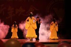 Exposition de valse de danse dans l'exposition de nouvelle année Photographie stock libre de droits