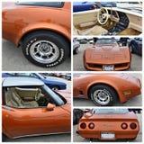 Exposition de voiture ancienne New York Chevrolet Corvette 1965 image stock
