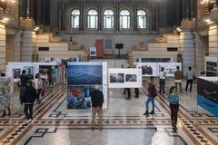 Exposition de World Press Photo à Budapest Images libres de droits