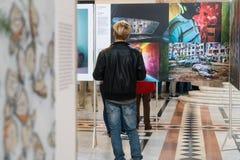 Exposition de World Press Photo à Budapest Photos libres de droits