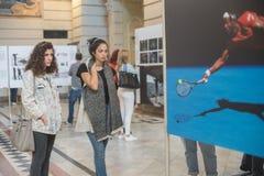 Exposition de World Press Photo à Budapest Photographie stock