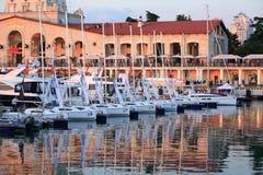 Exposition de yacht Photos stock