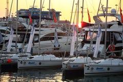 Exposition de yacht Images libres de droits