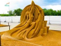 Exposition des chiffres de sable Photo stock