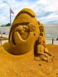 Exposition des chiffres de sable Image stock
