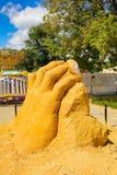 Exposition des chiffres de sable Images stock