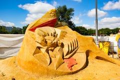 Exposition des chiffres de sable Photo libre de droits