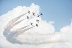Exposition des jets de force Photographie stock