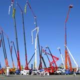 Exposition des machines de construction Image stock