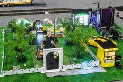 Exposition des modèles commandés par radio, bateaux, locomotives, voitures, Images stock