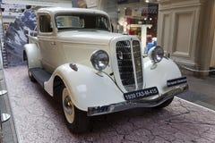 Exposition des rétros voitures soviétiques à Moscou Photographie stock