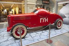 Exposition des rétros voitures soviétiques à Moscou Photo libre de droits