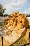 Exposition des sculptures en sable Images libres de droits