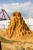 Exposition des sculptures en sable Image stock