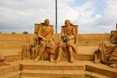 Exposition des sculptures en sable Sénat romain Image libre de droits