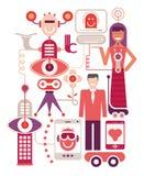 Exposition des technologies à jour illustration stock