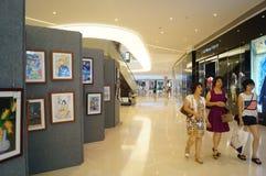 Exposition des travaux de peinture chinoise et de calligraphie Images libres de droits