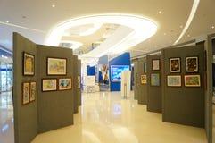 Exposition des travaux de peinture chinoise et de calligraphie Photo stock