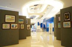 Exposition des travaux de peinture chinoise et de calligraphie Photos stock