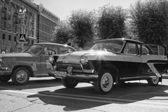 Exposition des voitures de vintage Photos stock