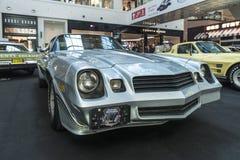 Exposition des voitures rares il y a de 40-70 ans du 20ème siècle Images libres de droits