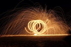 Exposition du feu au samet de KOH Images libres de droits