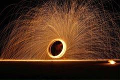 Exposition du feu au samet de KOH Image stock