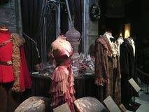 Exposition du matériel original de pelliculage de Harry Potter images stock