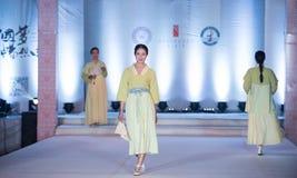 Exposition en bambou de trace-mode de neuvième série Photo libre de droits