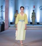 Exposition en bambou de trace-mode de neuvième série Photo stock
