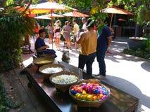 exposition en soie thaïlandaise Images stock