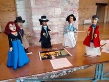Exposition et spectacle de marionnettes dans la ville d'Ancona images stock