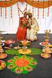 Exposition ethnique multi de mariage de la Malaisie Photographie stock libre de droits