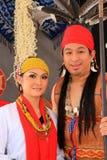 Exposition ethnique multi de mariage de la Malaisie Photo libre de droits
