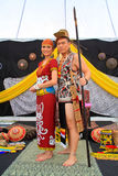 Exposition ethnique multi de mariage de la Malaisie Photos stock