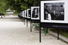 Exposition extérieure de photographie Images libres de droits