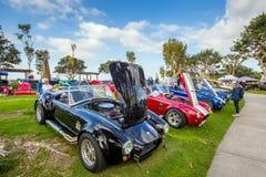 Exposition extérieure de rétros voitures chez Embarcadero Marina Park Nor Images libres de droits