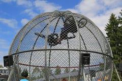 Exposition finlandaise de cavaliers de cage Photos libres de droits