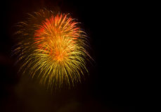 Exposition/Guy Fawkes Night de feux d'artifice Images stock