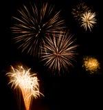Exposition/Guy Fawkes Night de feux d'artifice Photo libre de droits